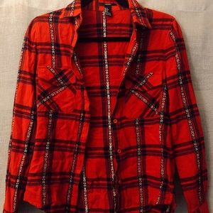 Forever 21 red plaid flannel